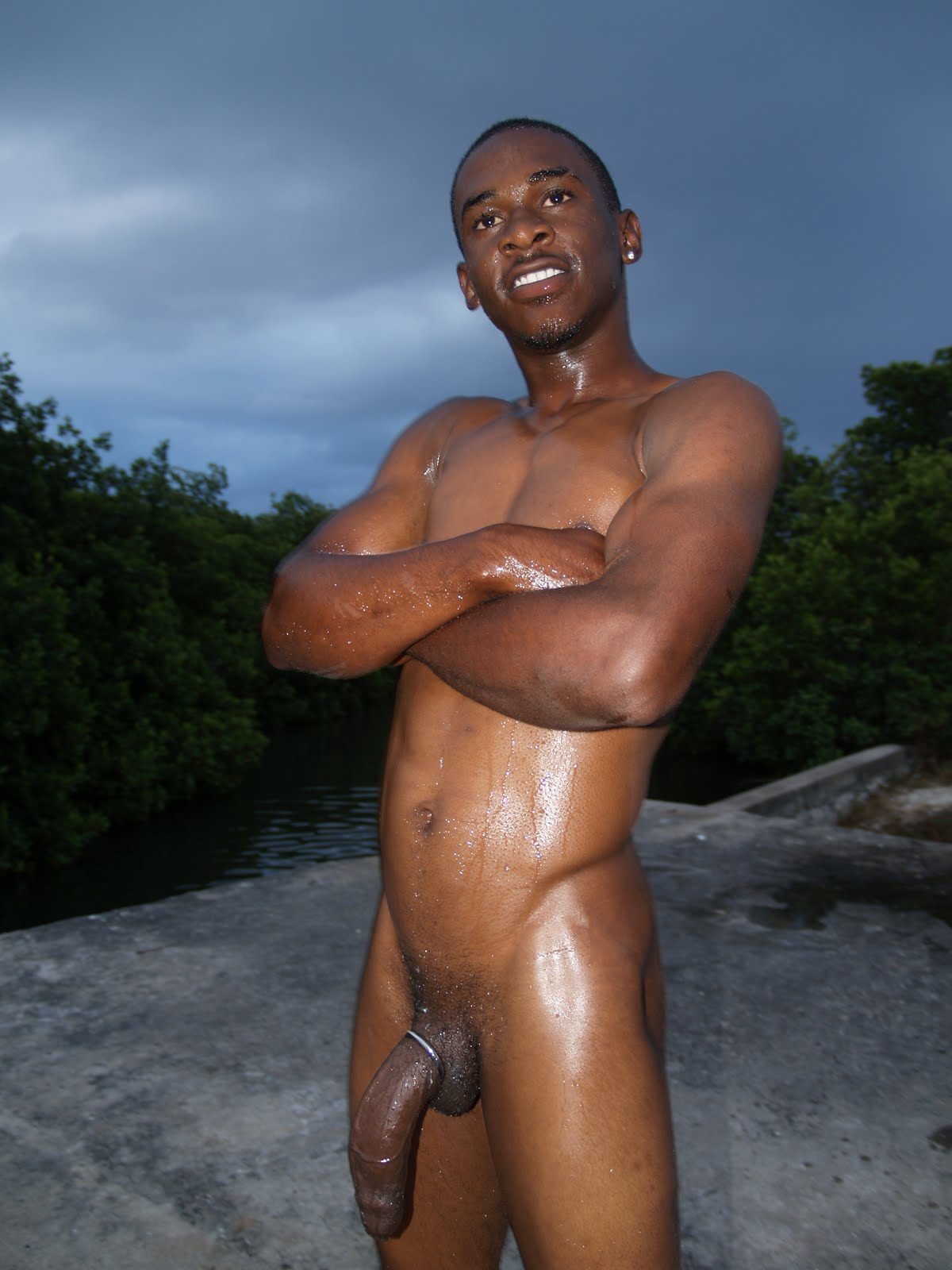 All clear, Black male models naked me, please